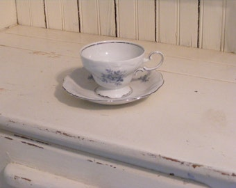 Cup and Saucer-Blue Rose