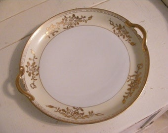 Roses in Gold Gorgeous Nippon Plate/Bowl
