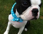 BETTY BLUE tie-on pet bandana, handmade, size S