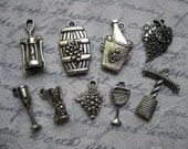 Wine Charm Collection in Silver Tone - C709