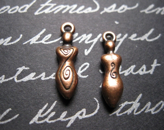 2 TierraCast Goddess Charms in Copper Tone - TC006-2