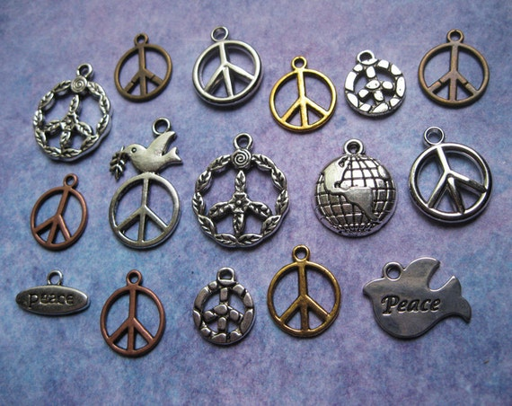 16 World Peace Charms Pendant Collection - C907