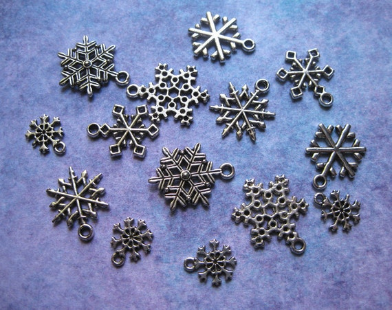Collection of Snowflake Charms - C939