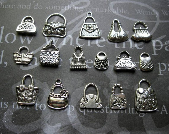 Purse Charm Collection in Silver Tone - C1271