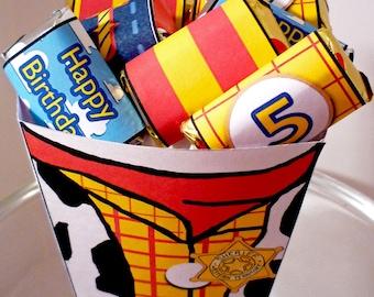 Cowboy Woody - PRINTABLE PARTY - Treat Popcorn Box