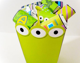 Space Alien PRINTABLE PARTY - Treat Popcorn Box
