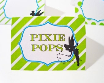 Tinkerbell Pixie Party Printable Labels for Place Cards or Food and Desserts
