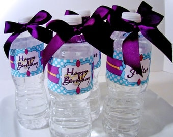 Princess Jasmine Digital Party PRINTABLE DIY Birthday Drink Labels