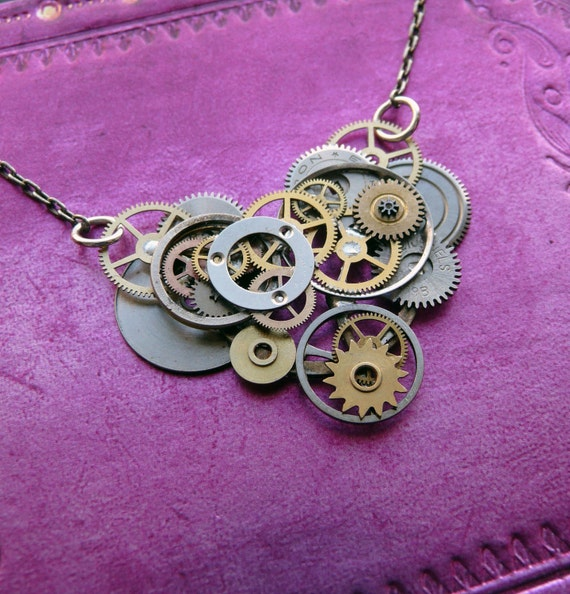 Clockwork Heart Necklace Heart Valentines Day