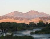 sunrise on Mount Diablo