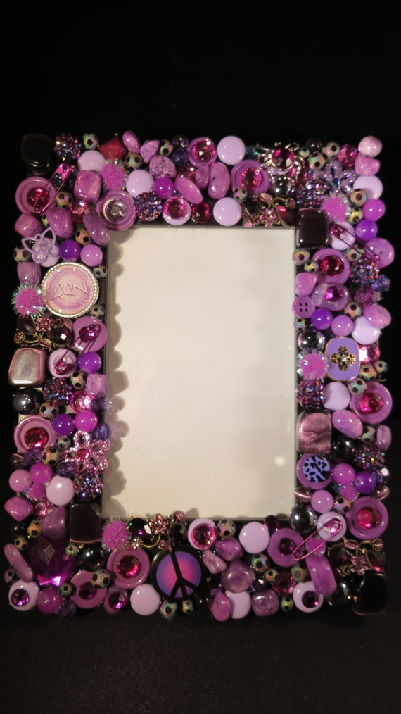 Items similar to embellished picture frame on etsy for Miroir fantaisie