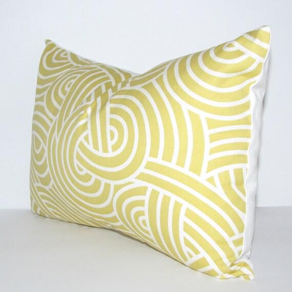 YELLOW pillow cover - lumbar - self-backed