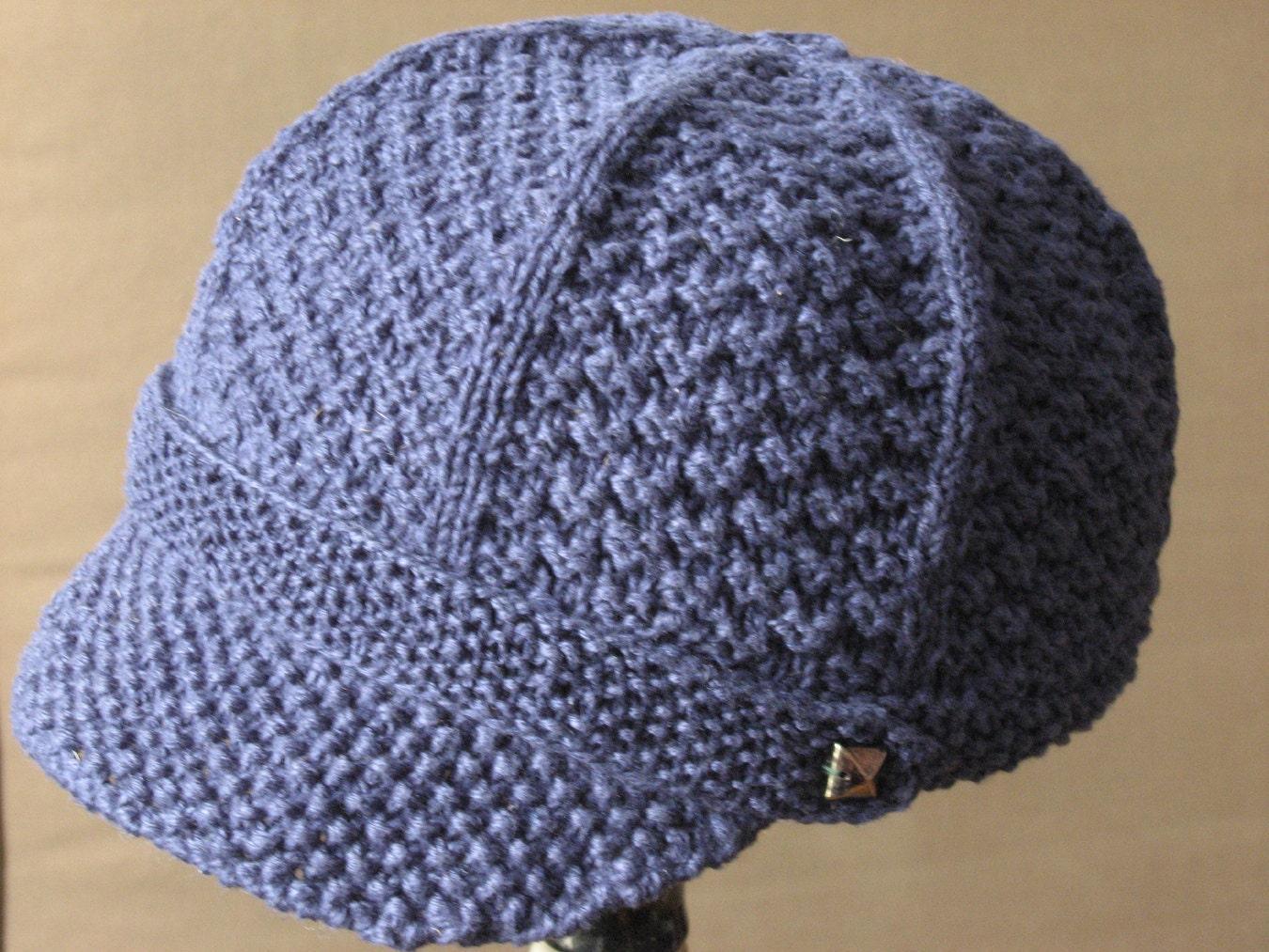 Pdf Newsboy Hat Knitting Pattern