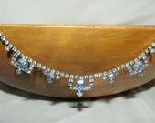 Beautiful Vintage Blue Rhinestone Art Deco Necklace 25% off Storewide with coupon code TREASURY