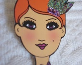 Paper Doll: Articulated, Fully Assembled w/ Glitter and Rhinestones