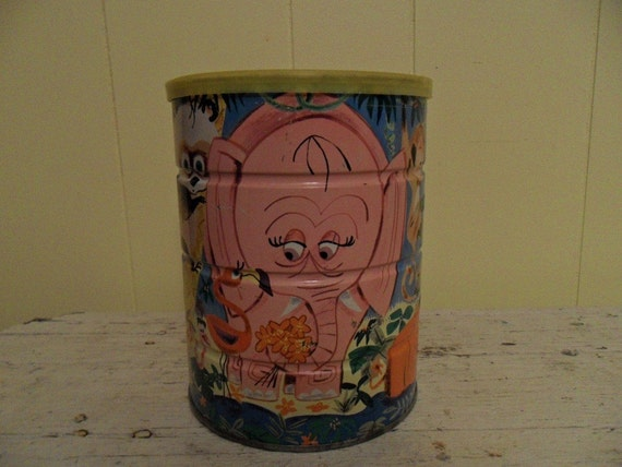 Vintage Decorative Folger's  Coffee Can