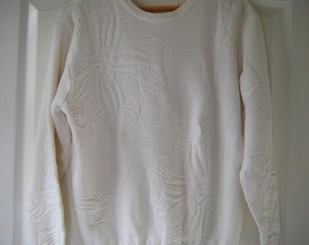 80s white ESPRIT sweater