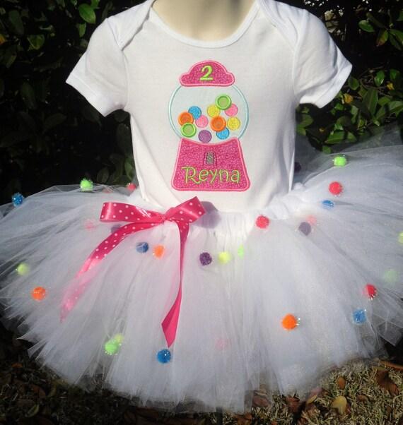 Gumball Cutie custom personalized birthday tutu, onesie or tee set sizes 6m - 5/6