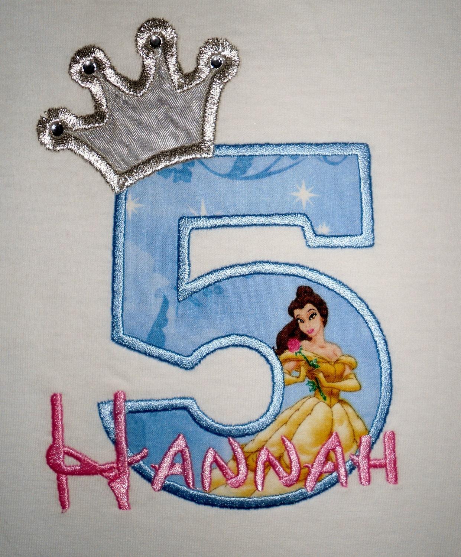 Disney Princess Birthday Shirts