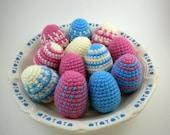 Amigurumi Easter Eggs- 12 colorful plush eggs