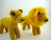 African Lions- Lion and Lioness Amigurumi Set
