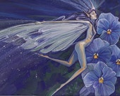 "Pansy Fairy 10"" x 8"" Giclee Print"