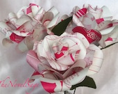 Shojo Amour - A Small Bouquet of Pink Salvaged Manga Roses