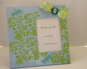 Decorative Frame Wood Frame Blue & Green Textured