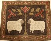 "Rug Hooking Pattern, Two Sheep 28"" x 36"", J436"