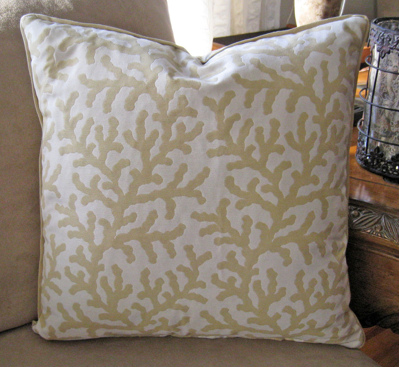 Decorative Pillow Cover Designer Fabric 18 inch Coral