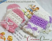 Baby Mittens Crochet Pattern - STAR STITCH MITTS