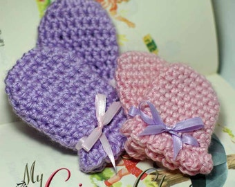 Pattern Crochet Baby Mittens - SWEET LIL MITTS