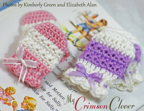 Crochet Baby Gloves Pattern : Baby Mittens Crochet Pattern STAR STITCH MITTS