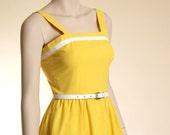80s Sunshine yellow cotton sundress - xxs, xs