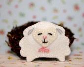 Soft Sheep Wool Felt Hair Clip