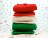 Christmas Bow Wool Felt Hair Clip - Pick a color