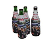 PERSONALIZED BRIDESMAID GIFTS-Set of 8-Wedding Favors-Wedding Gifts- Beer Bottle Insulators- Great Gifts for the Wedding Party