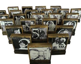 WEDDING TABLE NUMBERS-Rustic Wooden Table Numbers-Wedding Table Centerpieces-Wedding Table Decoration-Elegant Table Numbers