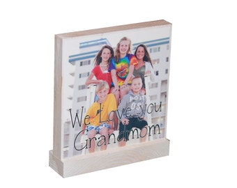 PERSONALIZED PHOTO GIFTS - Great Wedding Gifts- Any amount possible-Custom Wooden Photo Blocks For Family Pictures
