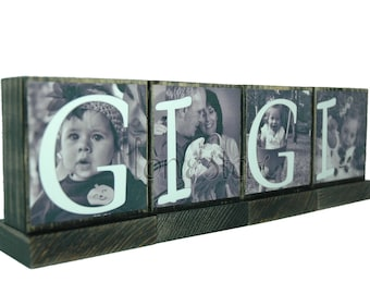 PERSONALIZED PHOTO BLOCKS-Mothers Day Gifts-Custom Photo Gifts-Gifts for Grandma-Gifts for Mom-Christmas Gifts