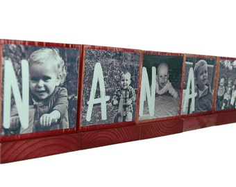 PERSONALIZED PHOTO BLOCKS- Custom Photo Displays any Name,Saying,Letters,and Photos are Possible-Great Christmas Gifts