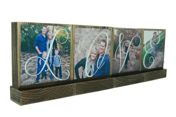 PERSONALIZED PHOTO BLOCKS Gifts To Spell Out Love-Great Wedding Gifts-Lasting Memories - Custom Photo Displays-