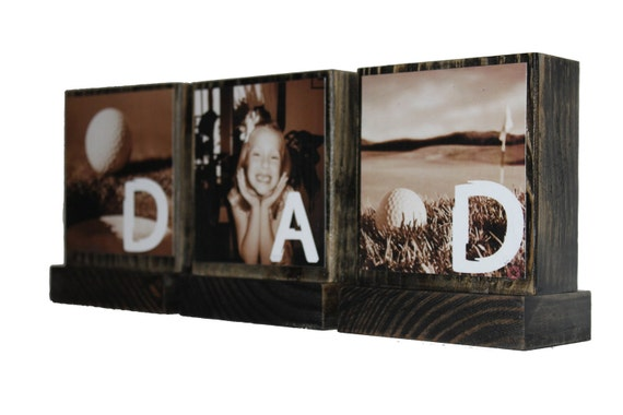 PERSONALIZED PHOTO GIFTS- Personalized Photo Frames-Christmas Gifts For Dad-Wooden Photo Frame