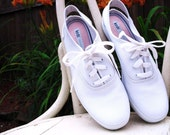 Original White Keds Canvas Slingback Sneakers