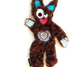 Stuffing Free & Squeaker Free Snuggle Fug Dog Toy with Secret Heart Fortune - Svenny by Fugly Friends