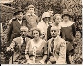 VINTAGE PHOTO, RPPC Family Portrait, 1923 Poland, Orig Photo on Postcard Stock