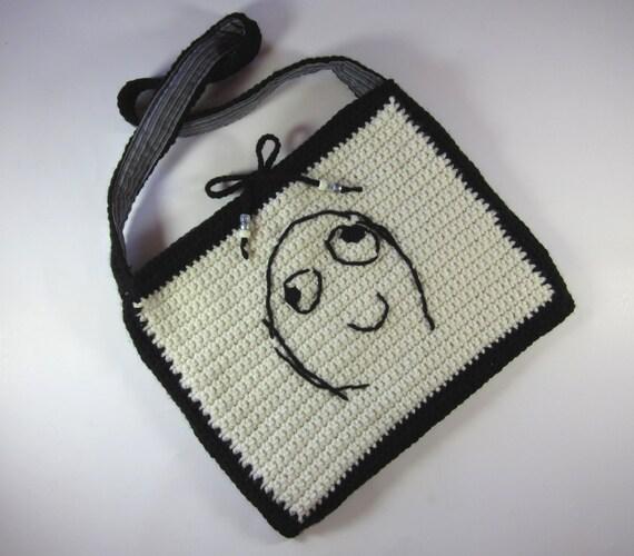 Crocheting Reddit : Meme Bag, Rage Face reddit Happy (crochet embroidered purse, lined ...
