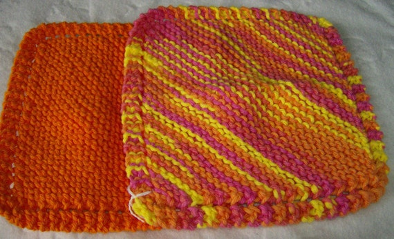 100% Cotton Knit Dishcloth Washcloth Set