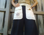 "utility belt, ""woodland""  re/ up cycled material, deep pockets, xs size"