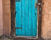 """Rustic Door No 343: 8"""" x 12"""" Fine Art Photography Print, Weathered, Southwest Architecture, Glennis Siverson"""